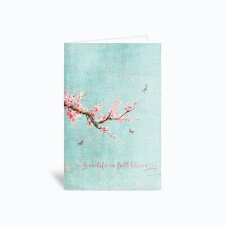 Sakura Live Life In Full Bloom Greetings Card