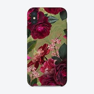 Vintage Midnight Summer Botanical Roses Garden Phone Case