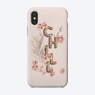 Chill Copper Balloon Typography And Tropical Flowers Phone Case