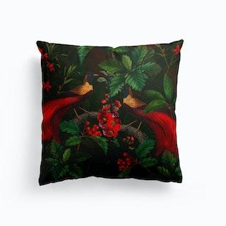 Night Vintage Paradise Bird Garden Cushion