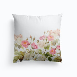Summer Redoute Vintage Roses Garden Cushion