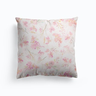 Blush Sakura Cherry Blossoms Pattern Cushion
