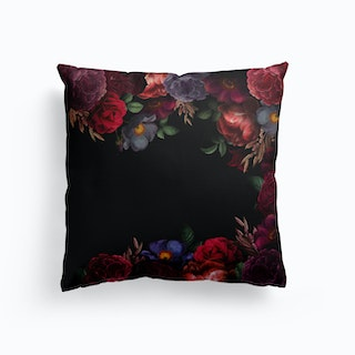Midnight Roses Garden Cushion