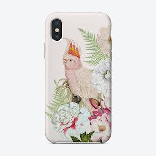 Pink Vintage Cockatoo Floral Phone Case