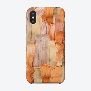 Copper Acrylic Brush Strokes Phone Case