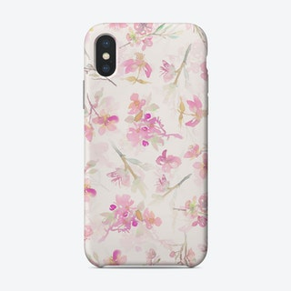 Blush Sakura Cherry Blossoms Pattern Phone Case