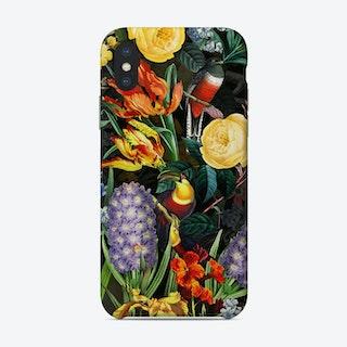 Night Vintage Spring Flower Bird Garden Phone Case