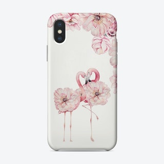 Floral Flamingo Love Phone Case