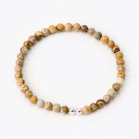 Silver Nature Bracelet with Mini Stones