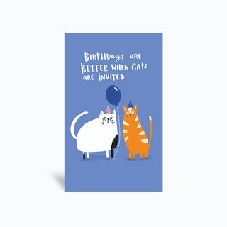 Cats Invited Greetings Card