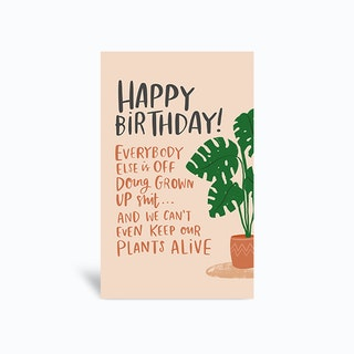 Plants Greetings Card