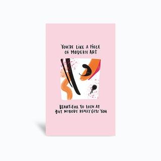 Modern Art Greetings Card