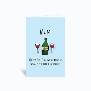 Lifes Problems Greetings Card
