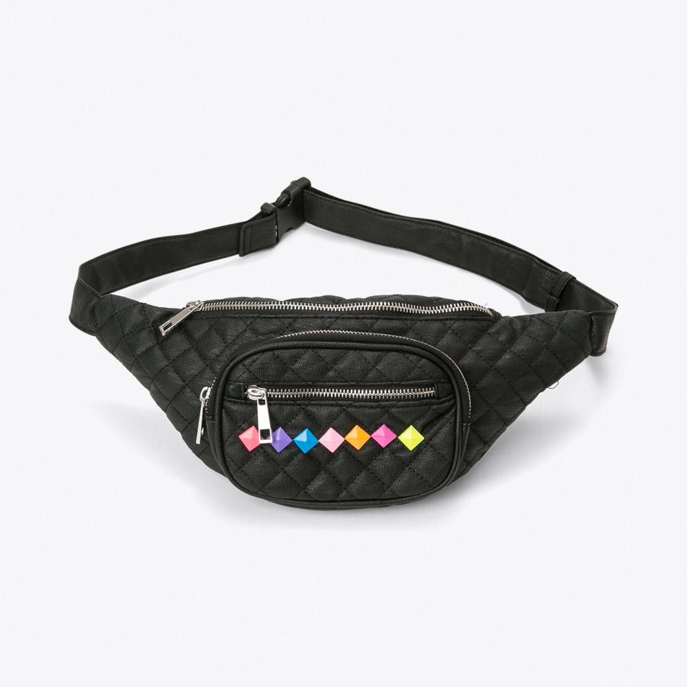 Quilted Bumbag with Triangle Studs