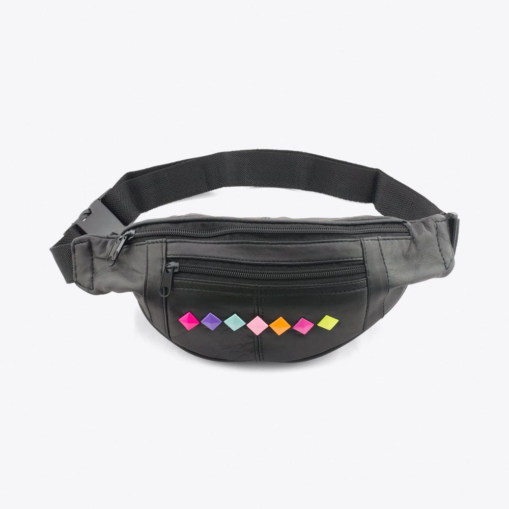 Bumbag with Multicolor Pyramid Studs
