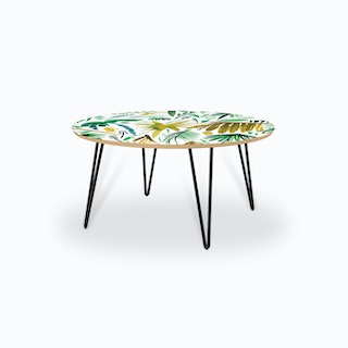 Brushstrokes Tropical Palms Green Coffee Table