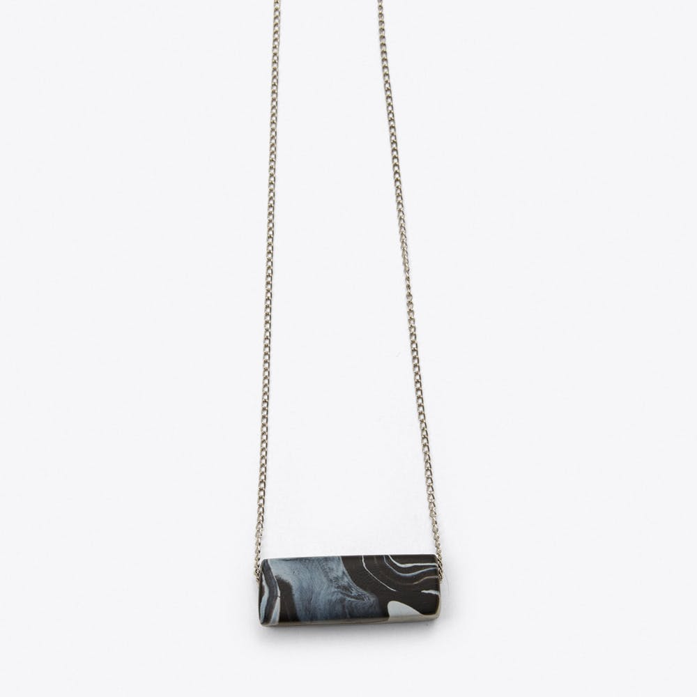 Marbled Block Necklace