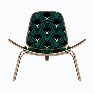 Deco Pattern Lounge Chair