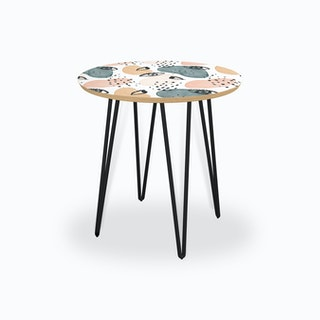 Painterly Eyes Pattern Side Table