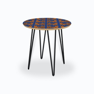 Tiger Temple Blue Side Table