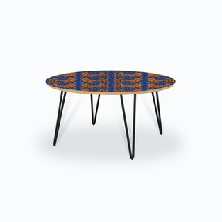Tiger Temple Blue Coffee Table