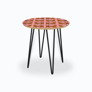 Tiger Temple Pink Side Table