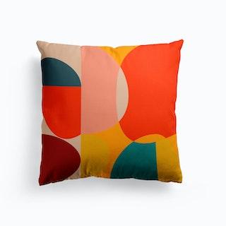 Mid Century Colored 4 Cushion