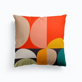 Mid Century Colored 3 Cushion