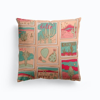 Travel Postcards Cushion
