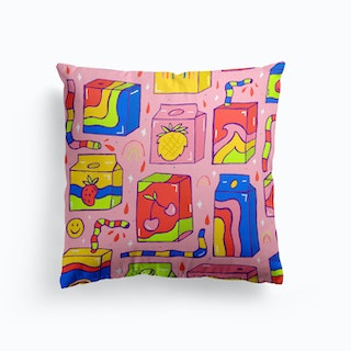 Juice Box Print Cushion