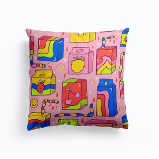 Juice Box Print Cushion