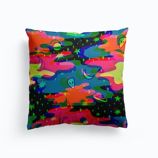 Psychedelic Space Cushion