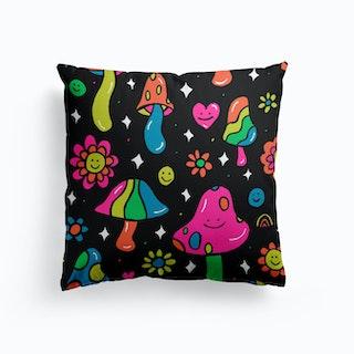 Rainbow Mushroom Cushion