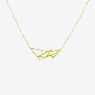 Icicle Shard Necklace in Gold
