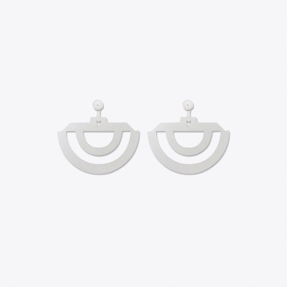Rainbow Earrings in Silver