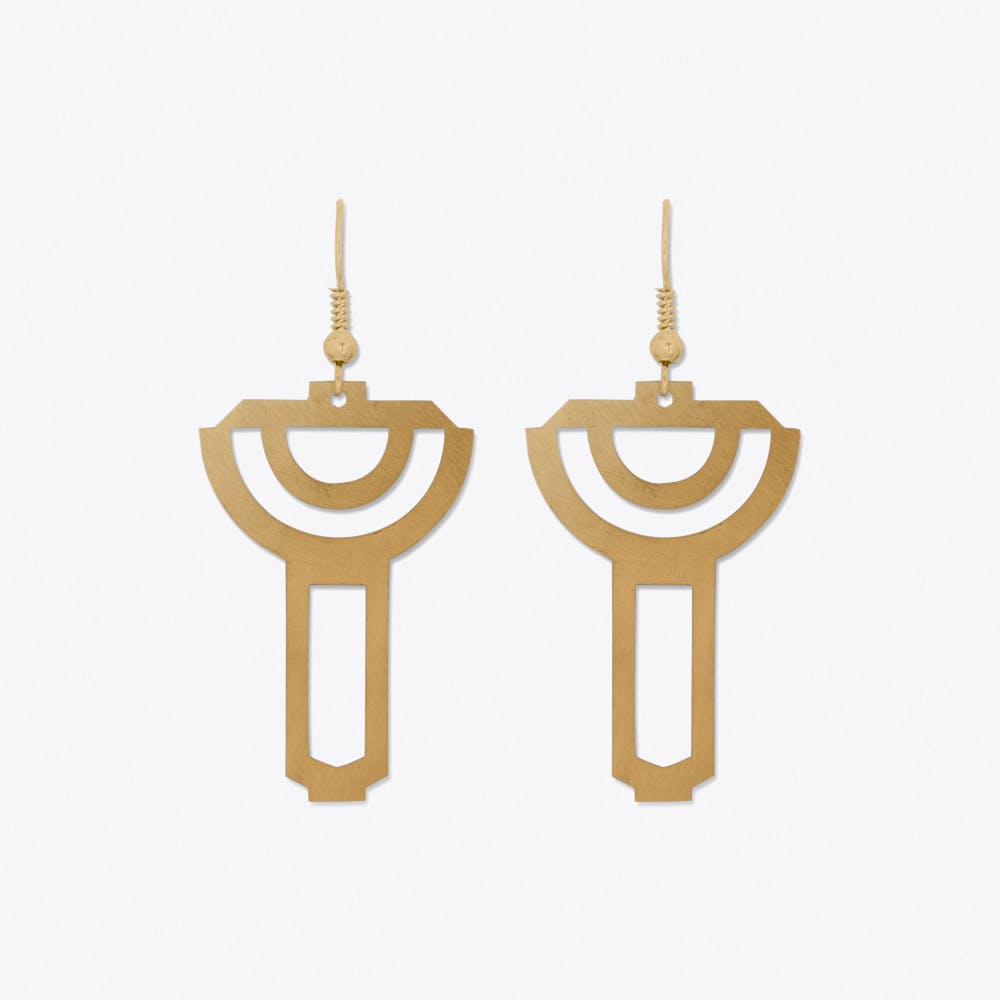 Rainbow Pop Earrings in Gold