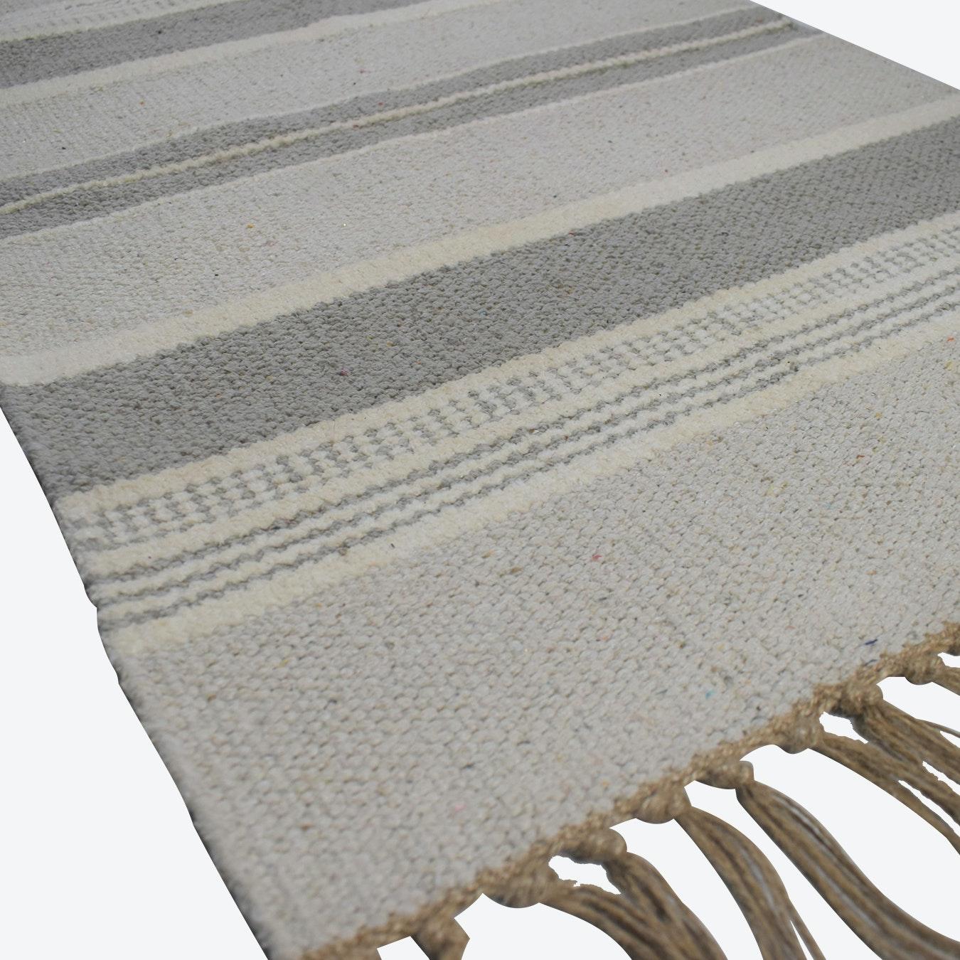 Natural Mushroom Rug Recycled Cotton