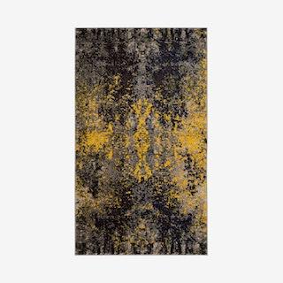 Monaco Woven Area Rug - Grey / Yellow
