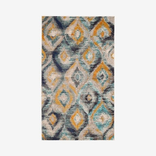 Monaco Woven Area Rug - Blue / Multicoloured - Abstract