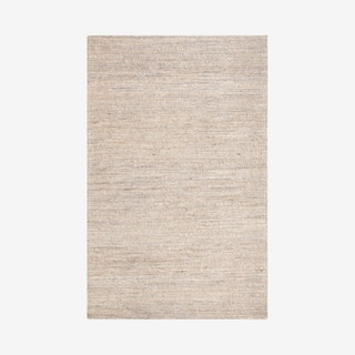 Marbella Hand Loomed Area Rug - Light Grey - Jute / Cotton
