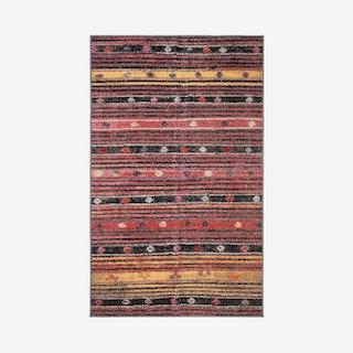 Montage Indoor / Outdoor Woven Area Rug - Rust / Yellow / Multicoloured