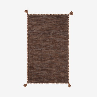 Montauk Hand Woven Area Rug - Brown / Black - Cotton