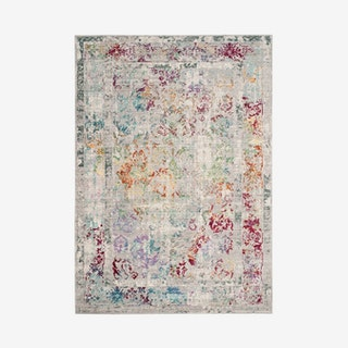 Mystique Woven Area Rug - Grey / Multicoloured - Distressed