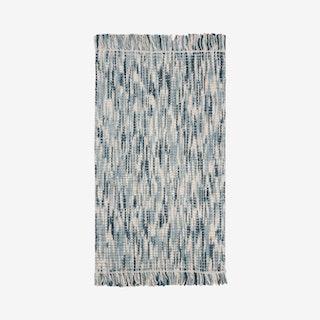 Natural Fiber Hand Woven Area Rug - Blue / Ivory - Jute