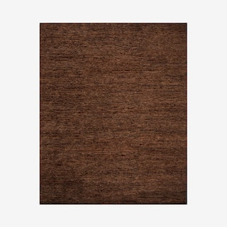 Organica Hand Knotted Area Rug - Brown / Brown - Jute