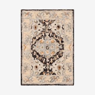 Aspen Hand Tufted Area Rug - Beige / Brown - Wool / Cotton