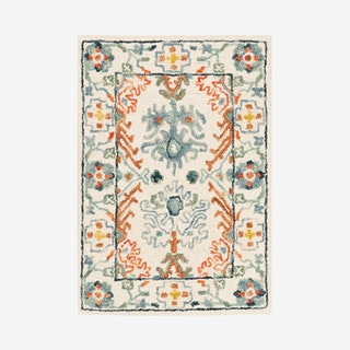 Aspen Hand Tufted Area Rug - Ivory / Blue - Wool / Cotton