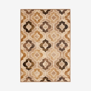Paradise Woven Area Rug - Taupe / Multicoloured - Lattice