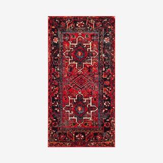 Vintage Hamadan Woven Area Rug - Red