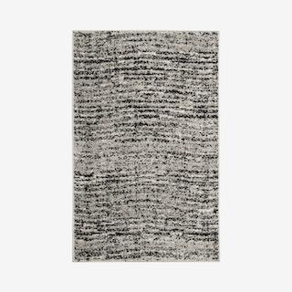 Adirondack Woven Area Rug - Black / Silver